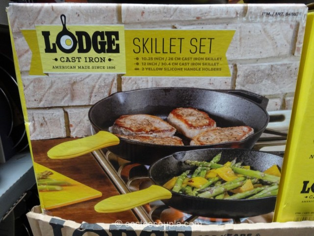 Lodge  Cast Iron Skillet Set Costco 3