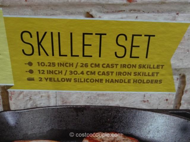 Lodge  Cast Iron Skillet Set Costco 5