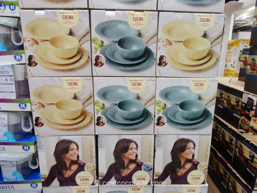 Rachael Ray Cucina Dinnerware Set Costco 2