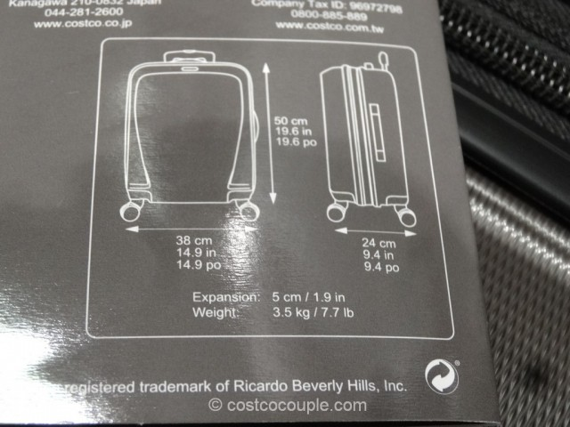 Ricardo 20-Inch Superlight Carry-On Spinner Costco 5