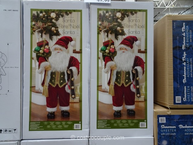 36-Inch Fabric Santa Costco 3