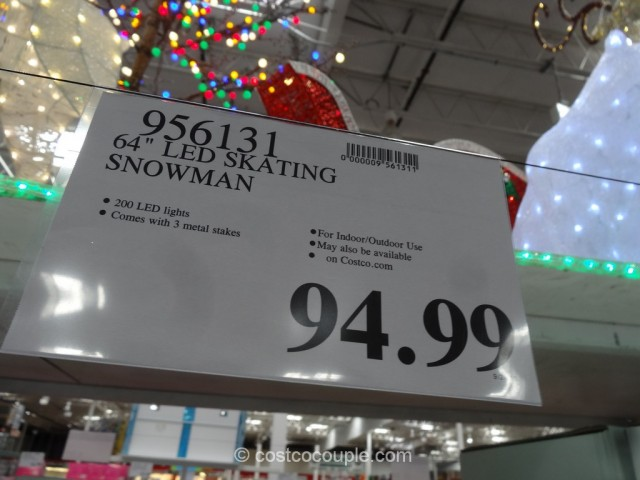 64-Inch LED Skating Snowman Costco 1