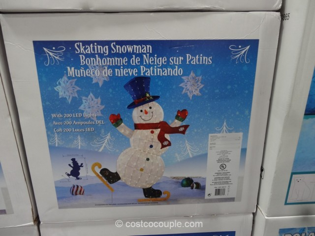 64-Inch LED Skating Snowman Costco 2