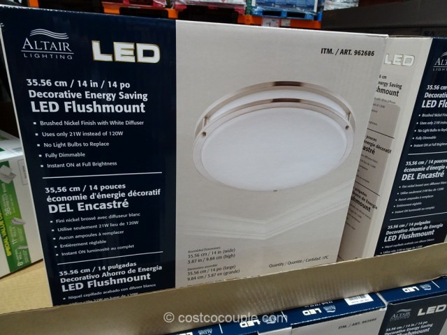 altair lighting 14 inch flushmount led light fixture costco 2. Black Bedroom Furniture Sets. Home Design Ideas