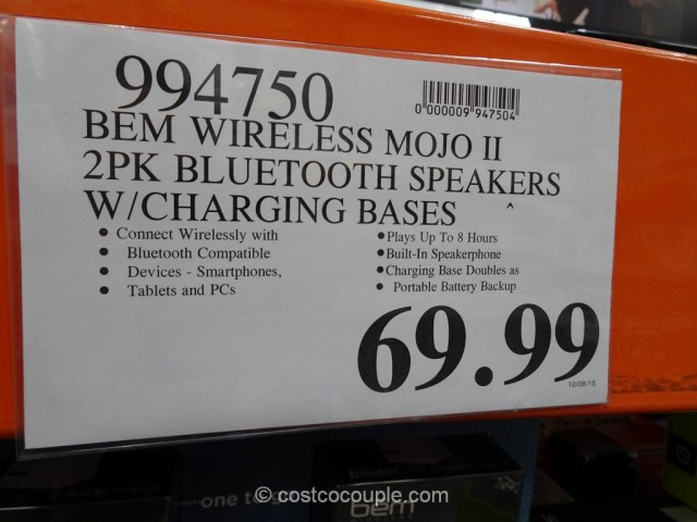BEM Wireless Mojo II Bluetooth Speakers Costco 1