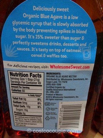 Blue Agave Organic Sweetener Costco 3