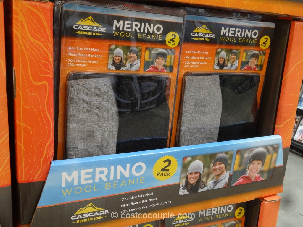 Cascade Mountain Merino Wool Beanie Costco 2