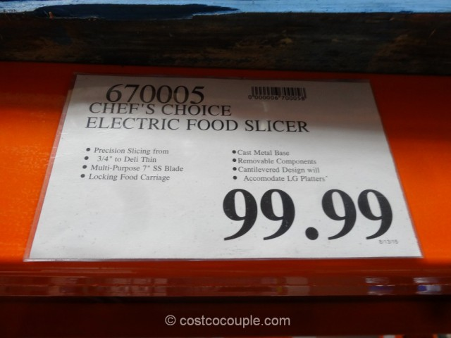 Chef's Choice Electric Food Slicer Costco 1