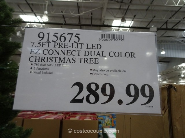 EZ Connect 75Ft Pre-lit LED Christmas Tree Costco 1