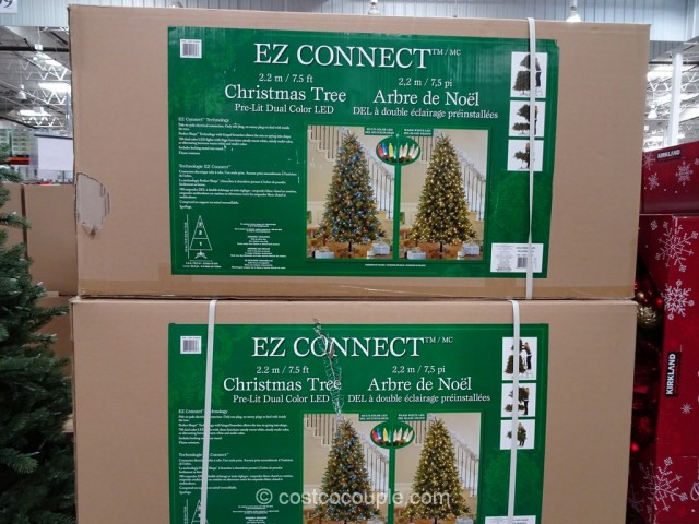 EZ Connect 75Ft Pre-lit LED Christmas Tree Costco 3