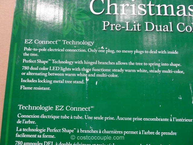 EZ Connect 75Ft Pre-lit LED Christmas Tree Costco 4