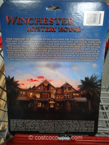 Gift Card Winchester Mystery House Costco 5