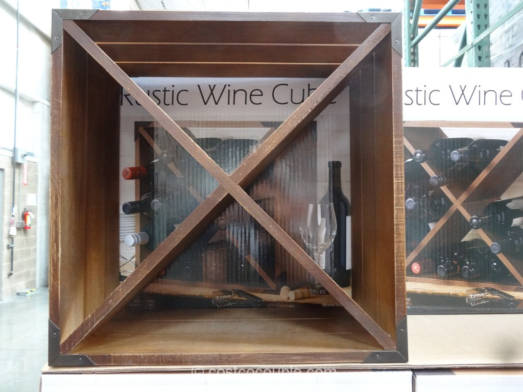 Home Traditions Rustic Wine Cube Costco 3