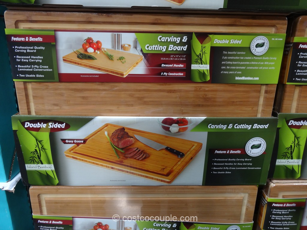 Island Bamboo Carving and Cutting Board Costco 2