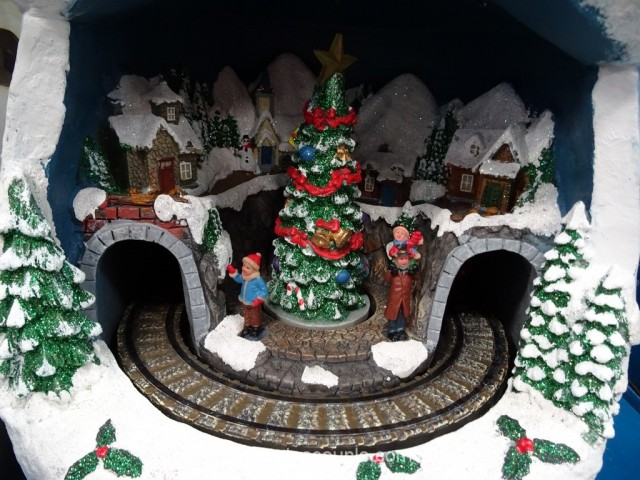 Lighted Snowman With Rotating Train Costco 4