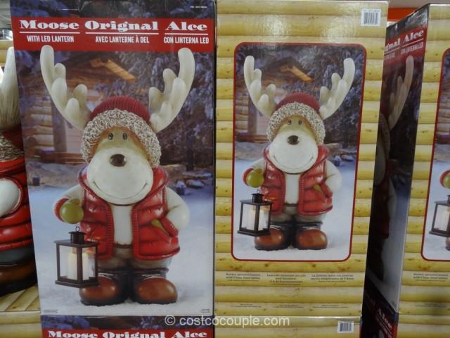 Moose With Led Lantern
