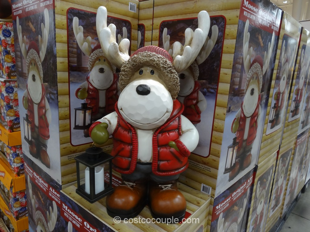 Moose With LED Lantern Costco 3