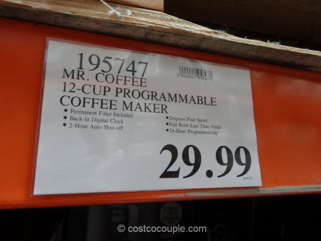 Mr Coffee 12-Cup Programmable Coffee Maker Costco 1
