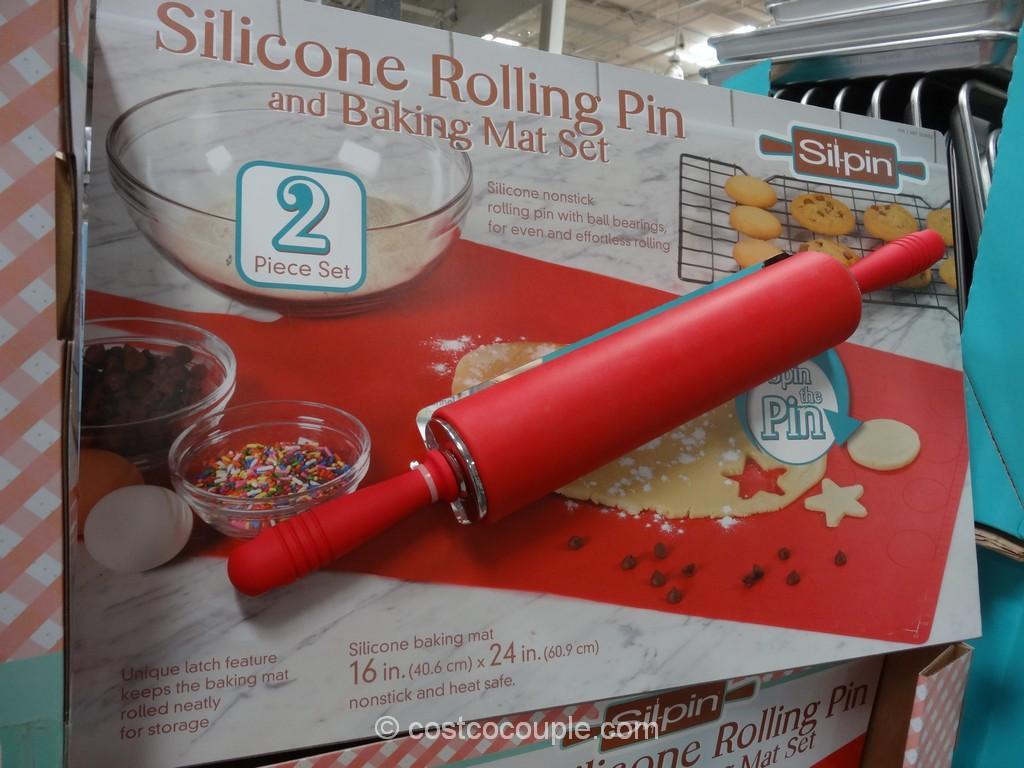 Sil-Pin Silicone Rolling Pin Set Costco 3