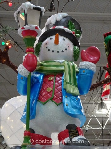 Snowman Greeter Wit LED Candle