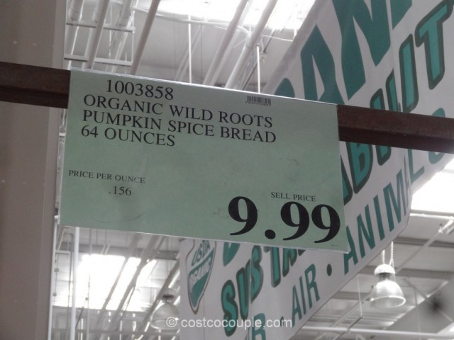 Wild Roots Organic Pumpkin Spice Bread Costco 1