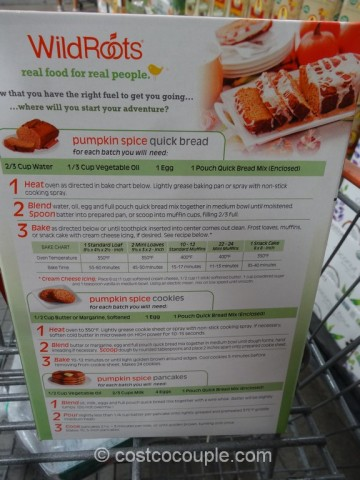 Wild Roots Organic Pumpkin Spice Bread Costco 3