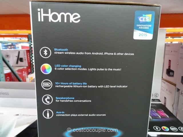 iHome Color Changing Bluetooth Speaker Costco 4