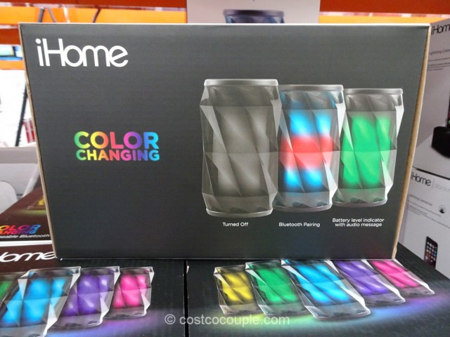 iHome Color Changing Bluetooth Speaker Costco 5
