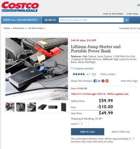 Car Jump Start Costco