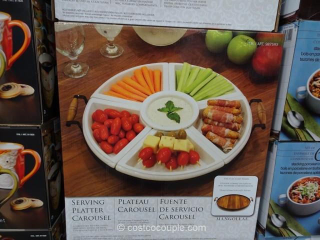 Ceramic Serving Platter Carousel Costco 3