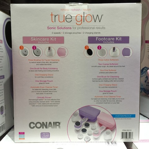 Conair True Glow Skincare And Footcare Kits