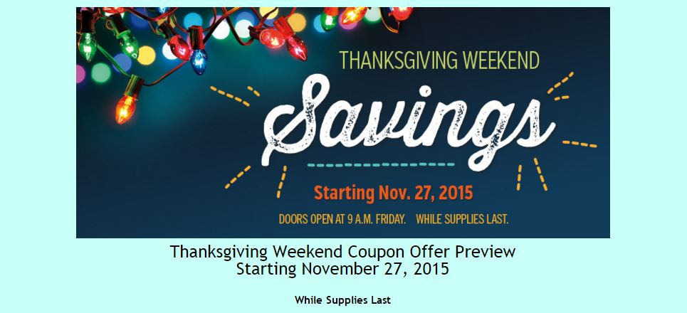 Costco 2015 Thanksgiving Weekend Savings 1