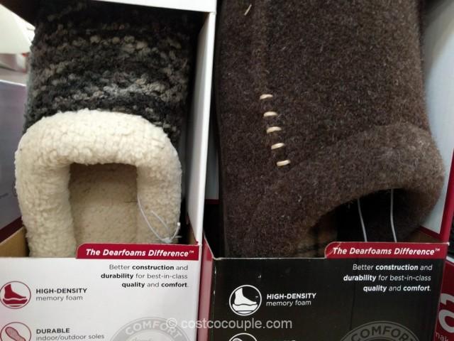 Dearfoam Ladies and Mens Memory Foam Slippers Costco 4