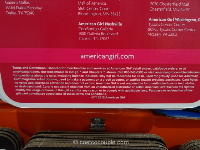 Gift Card American Girl Costco 3