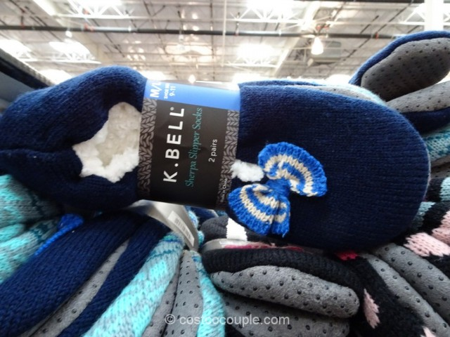 KBell Ladies Sherpa Slipper Socks Costco 2