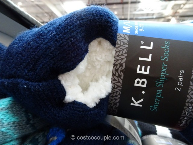 KBell Ladies Sherpa Slipper Socks Costco 3