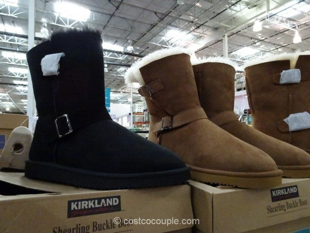 Kirkland Signature Ladies Shearling Buckle Boot Costco 2