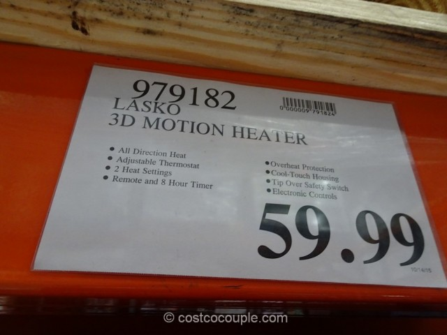 Lasko 3D Motion Heater Costco 1