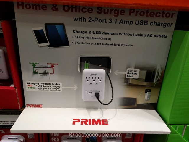 Prime Wire Home And Office Surge Protector Pack