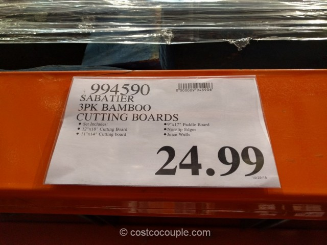 Sabatier 3-Piece Bamboo Cutting and Serving Board Set Costco 1