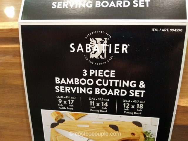 Sabatier 3-Piece Bamboo Cutting and Serving Board Set Costco 3