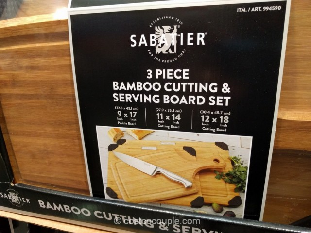 Sabatier 3-Piece Bamboo Cutting and Serving Board Set Costco 4