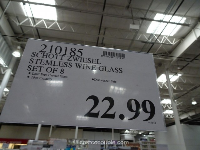 Schott Zwiesel Stemless Wine Glass Costco 1