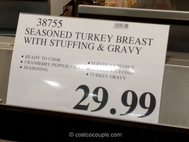 Seasoned Turkey Breast With Stuffing and Gravy Costco 1
