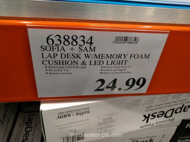 Sofia And Sam Memory Foam Lap Desk Costco 1
