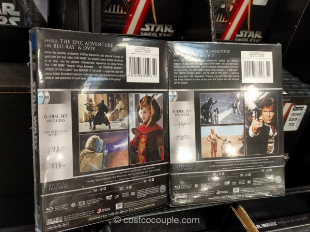 Star Wars DVD and Blu-Ray Trilogy Costco 3