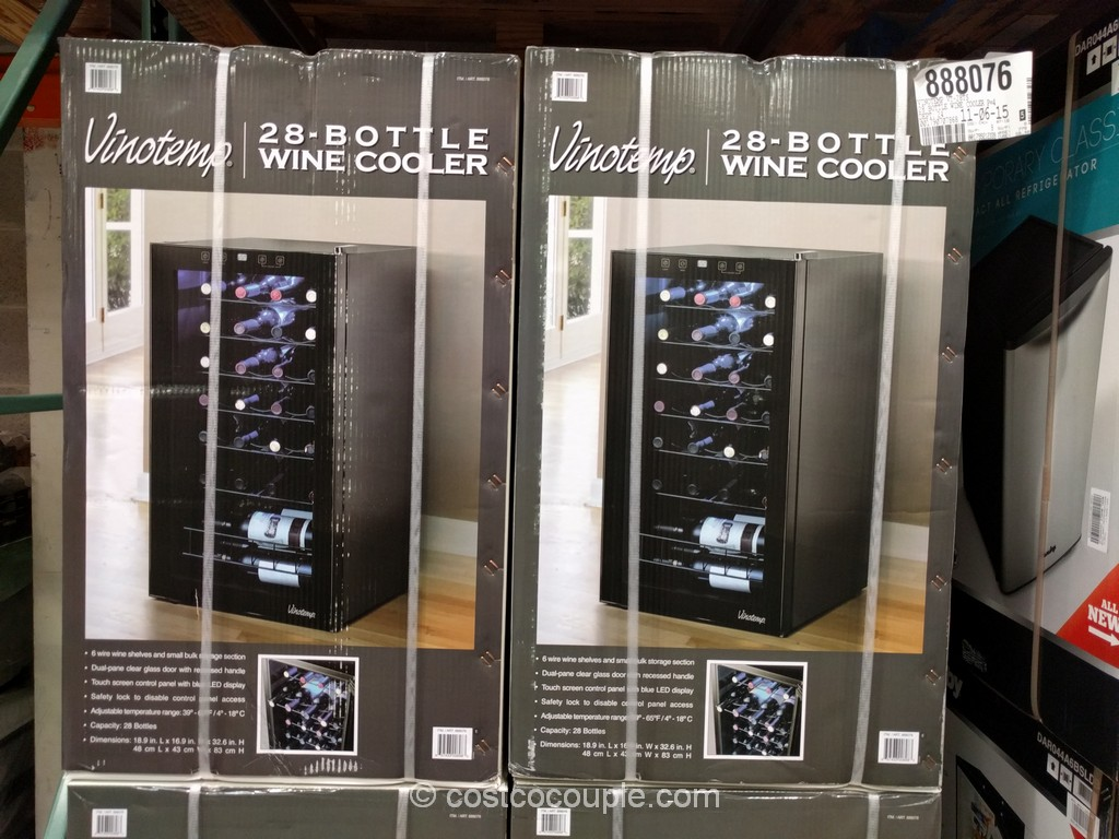 VinoTemp 28-Bottle Wine Cooler Costco 2