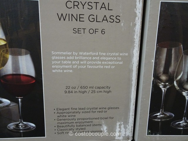 Waterford Lead Crystal Wine Glass Costco 3