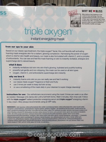 Bliss Triple Oxygen Instant Energizing Mask Costco 3