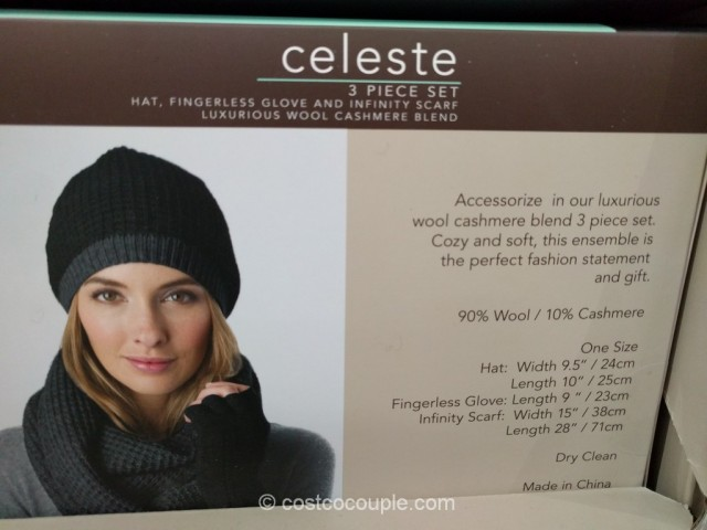 Celeste Ladies Wool Cashmere Blend Set